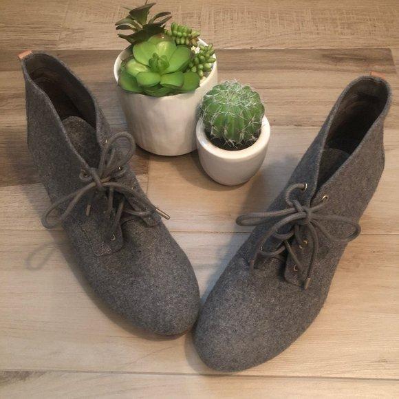 Dr Scholl's Wool Wedge Booties